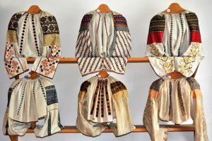 old traditional peasant costumes in Transylvania area in Octavian Goga Museum from Ciucea - Romania 08/Jun.2019