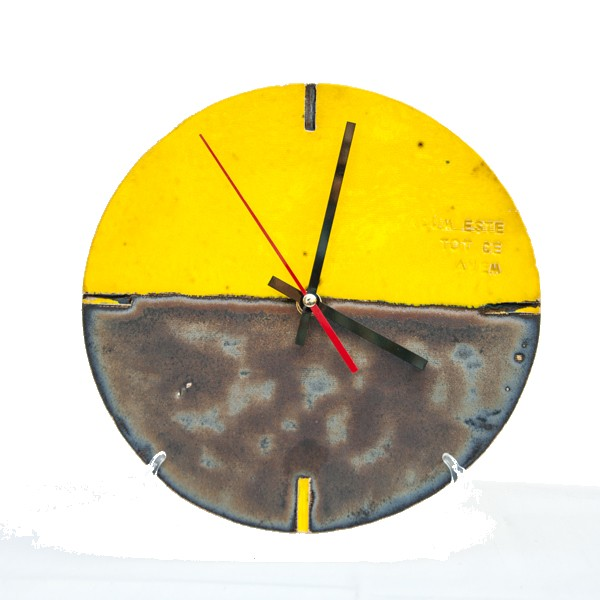 Ceas Old Yelow Metal_platter_ceramics_pottery_RafGallery_romanian_art_VR_gallery_shop_360