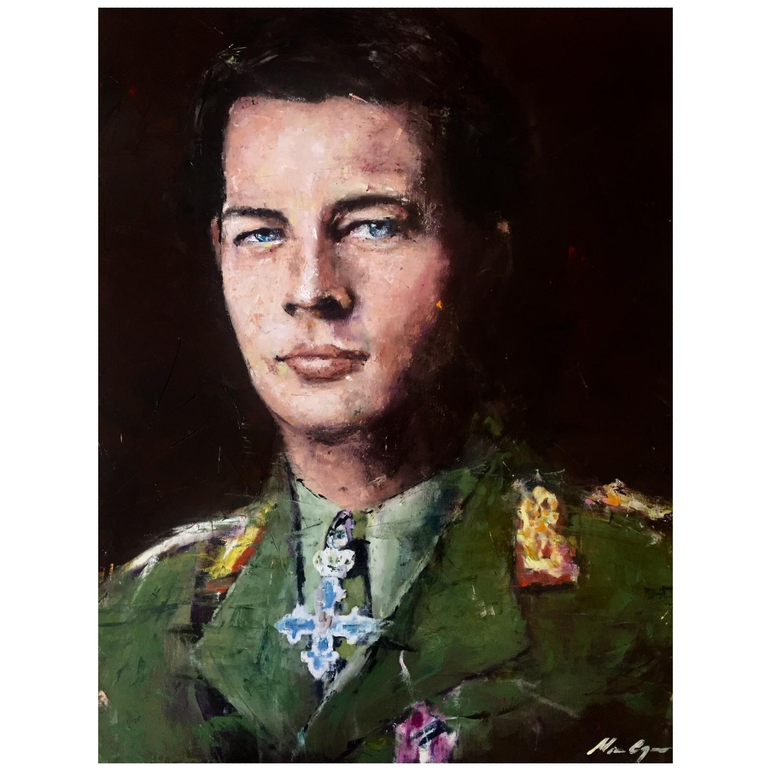 The King_Tablou Panza_Acril pe panza_painting_RafGallery_romanian_art_VR_gallery_shop_360