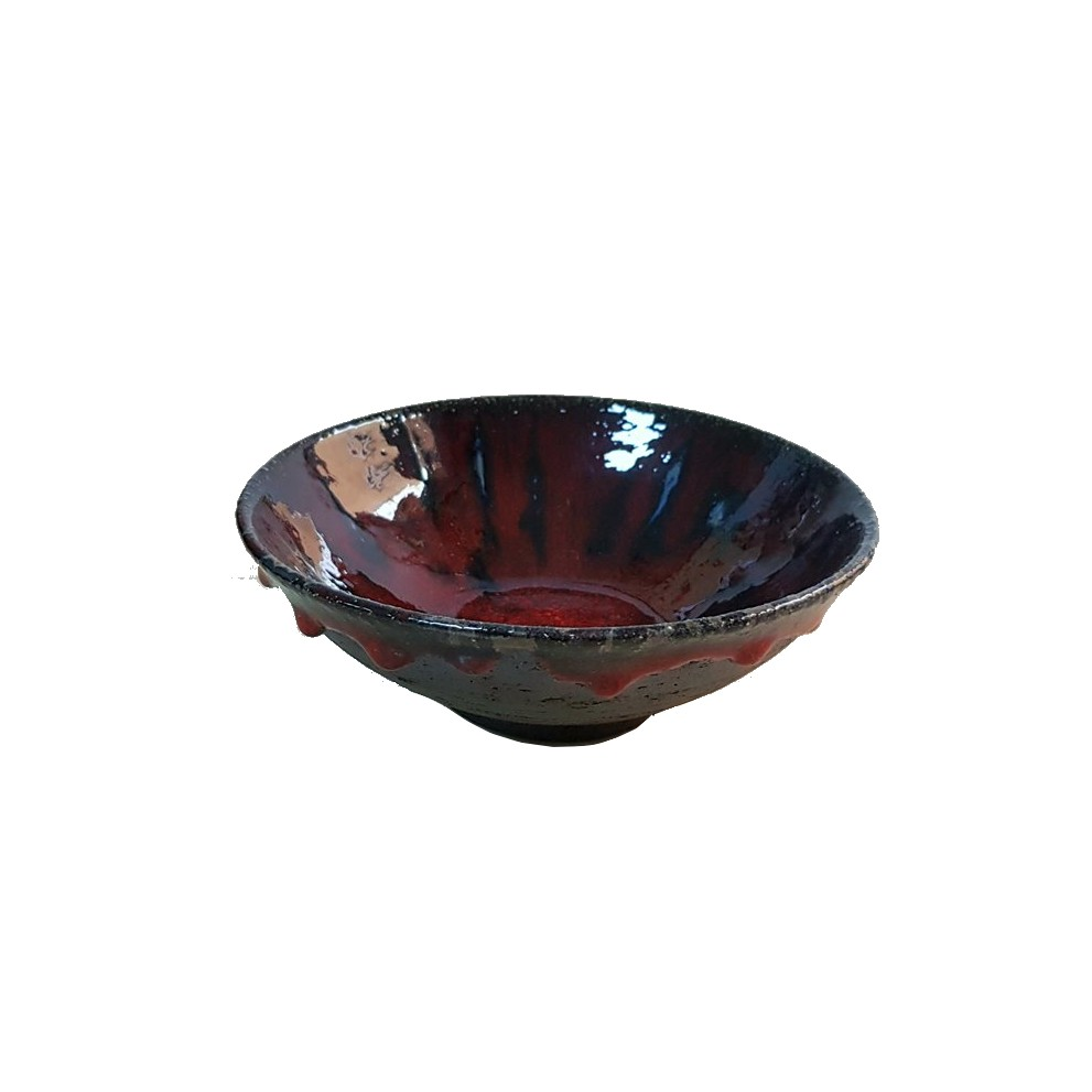 Bol mediu The Dark Red_platter_ceramics_pottery_RafGallery_romanian_art_VR_gallery_shop_360