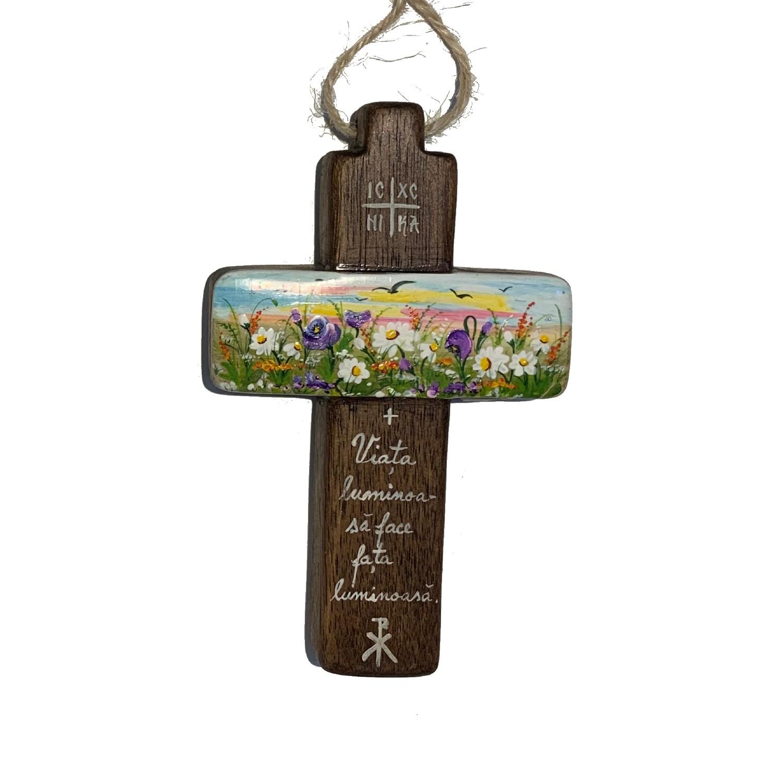 Cruce din lemn de nuc 17_wood cross_icon_hand made_traditional_RafGallery_romanian_art_VR_gallery_shop_360