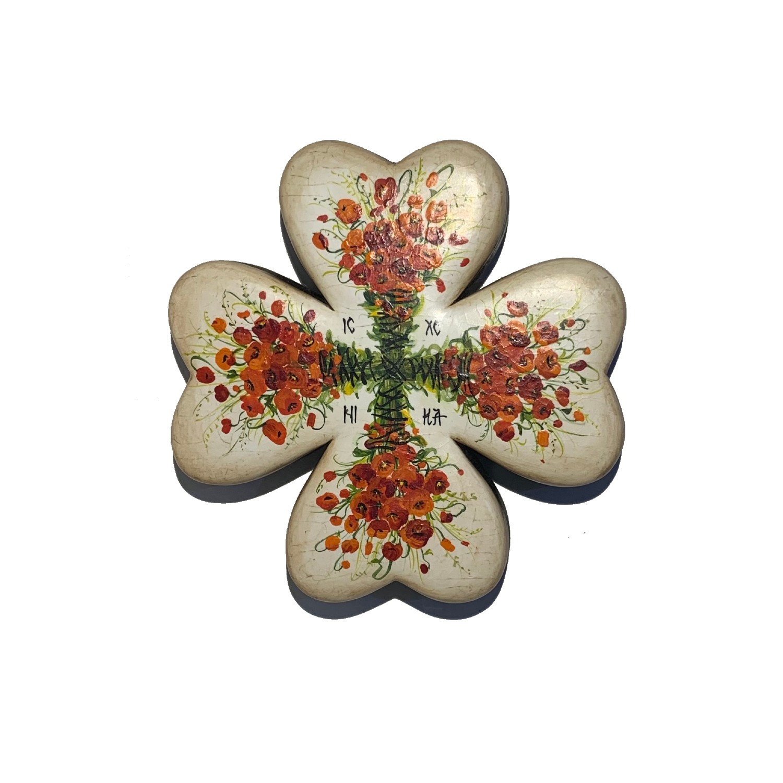 Cruce din lemn de nuc 2_wood cross_icon_hand made_traditional_RafGallery_romanian_art_VR_gallery_shop_360