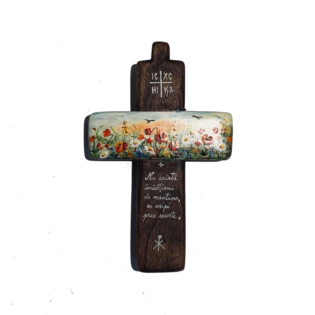 Cruce din lemn de nuc 5_wood cross_icon_hand made_traditional_RafGallery_romanian_art_VR_gallery_shop_360