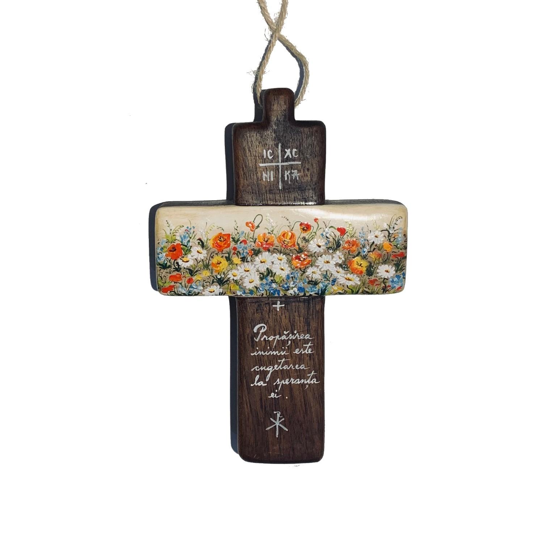 Cruce din lemn de nuc 9_wood cross_icon_hand made_traditional_RafGallery_romanian_art_VR_gallery_shop_360